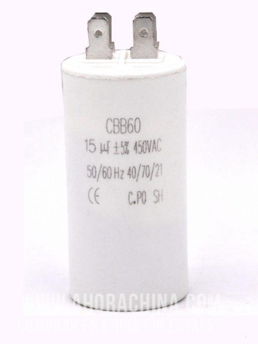 Condensador - Motor AC CBB60