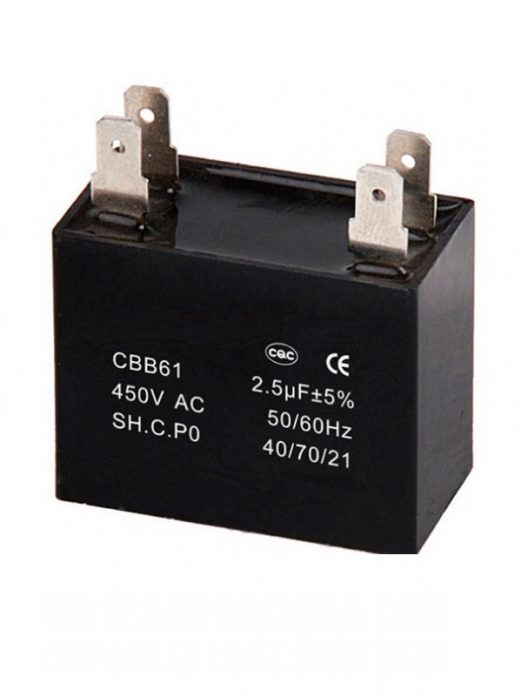 Condensador - Motor AC CBB61